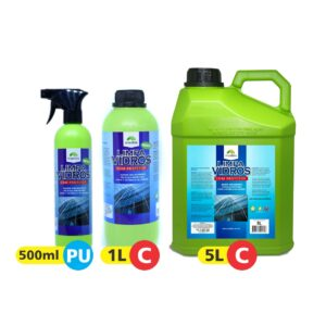 Limpa Vidros com Protetor – 500ml, 1L e 5L